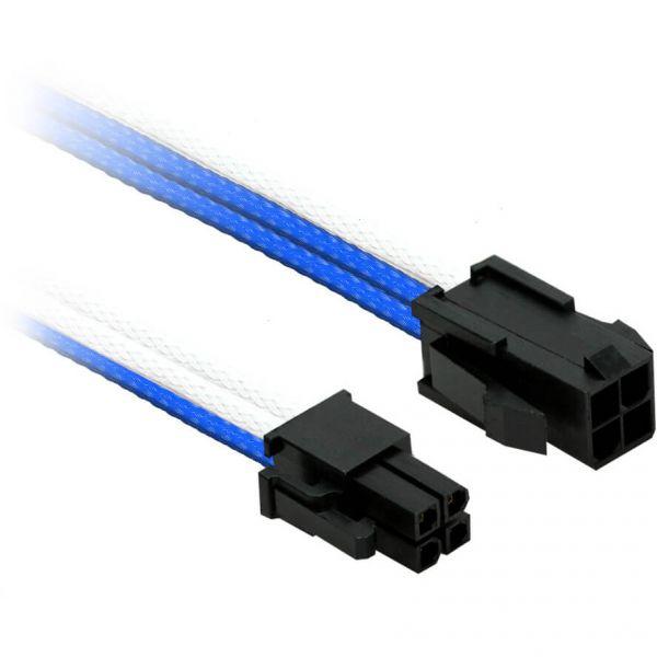 Nanoxia 4-Pin P4 30 cm Verlängerung blau/weiß (NXP4V3EBW)