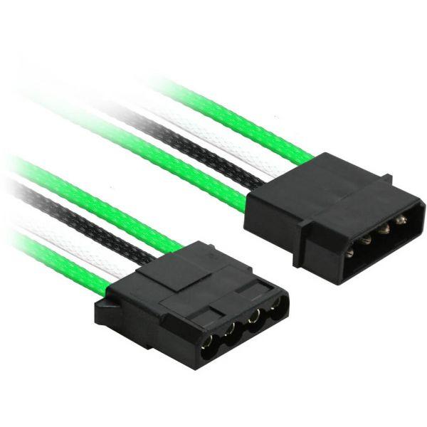 Nanoxia 4-Pin Molex auf 3x 4-Pin Molex 30 cm Verteilerkabel grün/schwarz/weiß (NX43A30GWS)