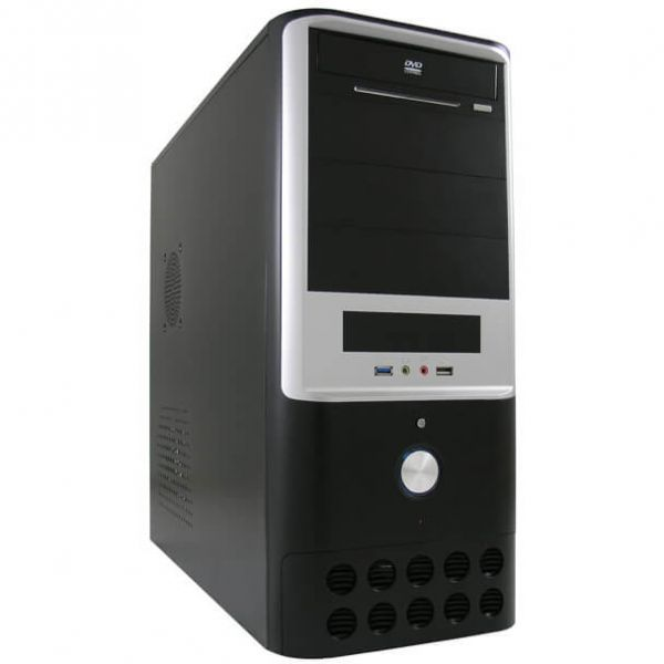LC-Power 7005 B schwarz/silber Midi Tower inkl. 420 Watt Netzteil