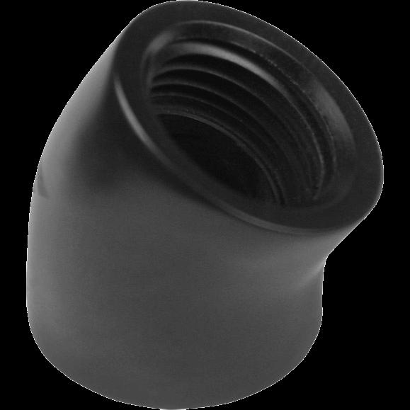"Nanoxia CoolForce Adapter gewinkelt 45 Grad G 1/4"" IG auf G 1/4"" IG schwarz (CF-F045)"