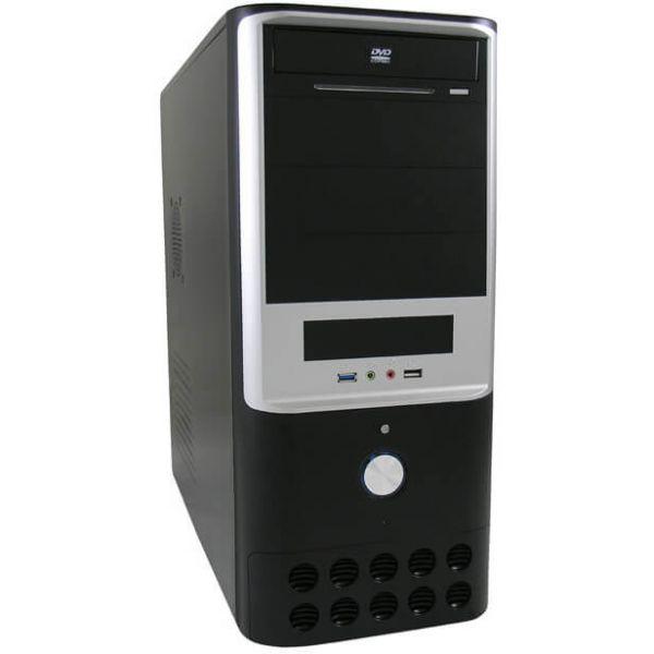 LC-Power 7005 B schwarz/silber Midi Tower
