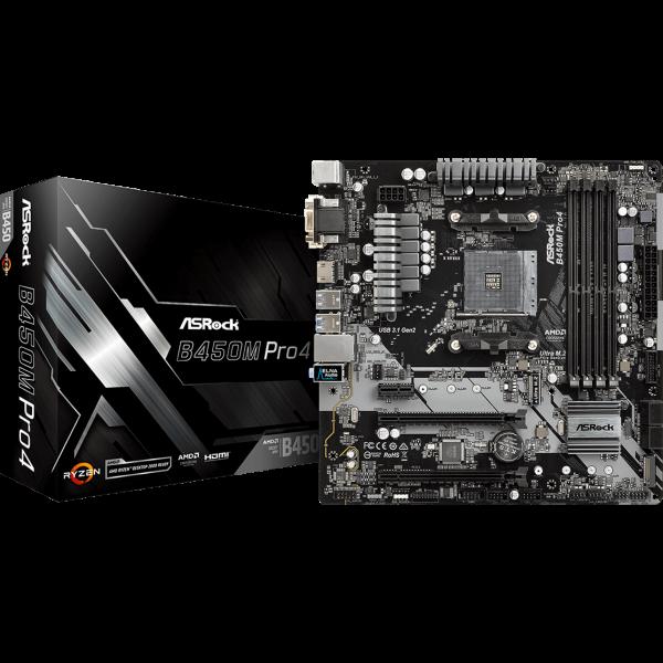 ASRock B450M Pro4 AMD AM4 µATX