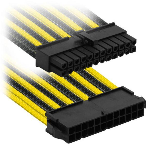 Nanoxia 24-Pin ATX 30 cm Verlängerung gelb/schwarz (NX24V3ESG)