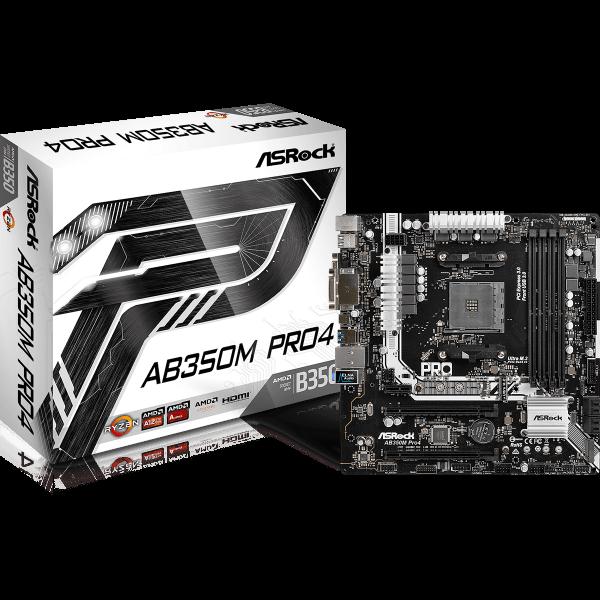 ASRock AB350M Pro4 AMD AM4 µATX