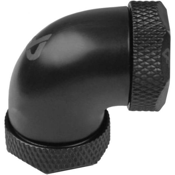 Nanoxia CoolForce Hardtube Adapter gewinkelt 90 Grad 16/13 mm auf 16/13 mm schwarz (CF-F290C)