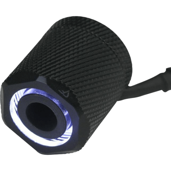 "Nanoxia CoolForce LED White Fitting gerade G 1/4"" AG auf 16/13 mm schwarz (CF-FFO-W)"