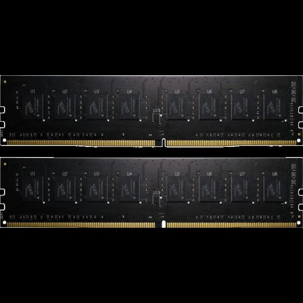 GeIL Pristine 8 GB DDR4-2400 DIMM CL16 Dual Kit schwarz (GAP48GB2400C16DC)