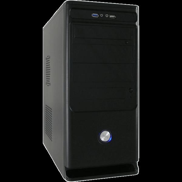 LC-Power 7010 B schwarz Midi Tower inkl. 350 Watt Netzteil