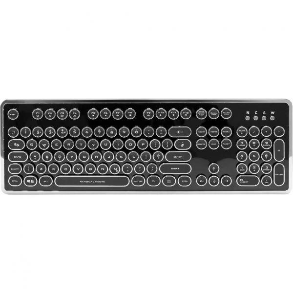 Nanoxia Ncore Retro mechanische Tastatur Kaihua Kailh White schwarz (UK)