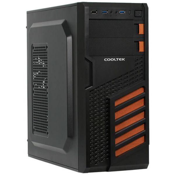 Cooltek KX schwarz/orange Midi Tower
