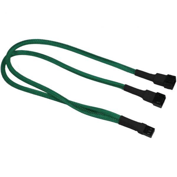 Nanoxia 3-Pin Molex auf 2x 3-Pin Molex 30 cm Verteilerkabel grün (NX3PY30G)