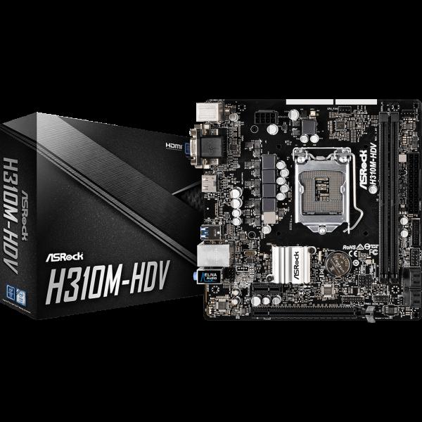 ASRock H310M-HDV Intel 1151 v2 µATX