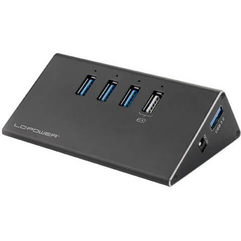 LC-Power LC-HUB-ALU-2B-4 USB Hub extern USB 3.0 Typ-A schwarz