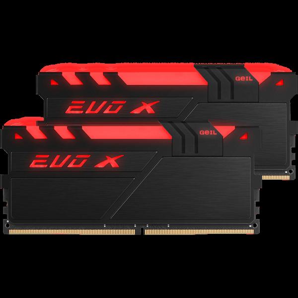 GeIL EVO X 16 GB DDR4-3000 DIMM CL16 Dual Kit weiß (GEXG416GB3000C16ADC)