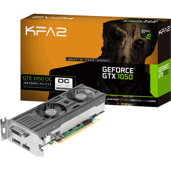KFA2 GeForce GTX 1050 OC Low Profile 2 GB GDDR5 Retail