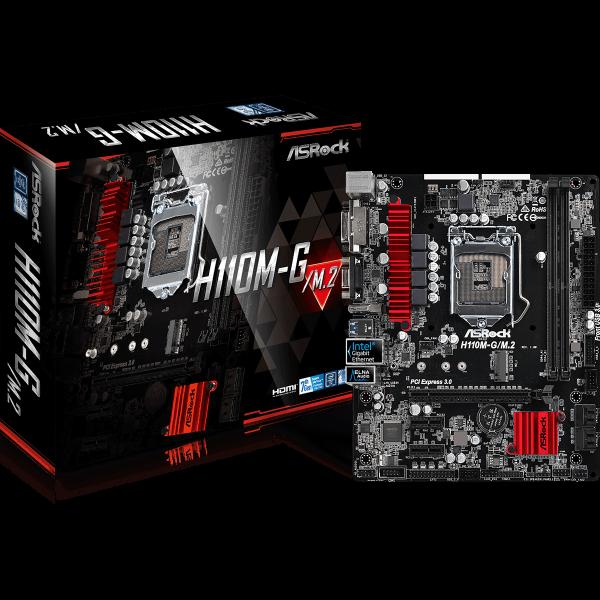 ASRock H110M-G/M.2 Intel 1151 µATX