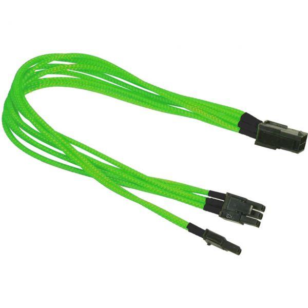 Nanoxia 6-Pin PCIe auf 6+2-Pin PCIe 30 cm Verlängerung neon grün (NXP683ENG)