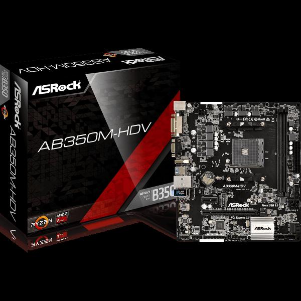 ASRock AB350M-HDV AMD AM4 µATX