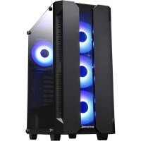 CHIEFTEC Gamer GS-01B Hunter schwarz Midi Tower mit Glasfenster
