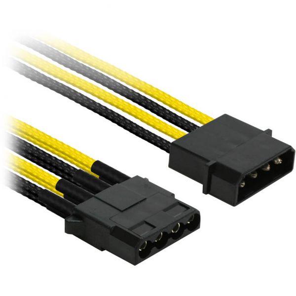 Nanoxia 4-Pin Molex auf 3x 4-Pin Molex 30 cm Verteilerkabel gelb/schwarz (NX43A30SG)