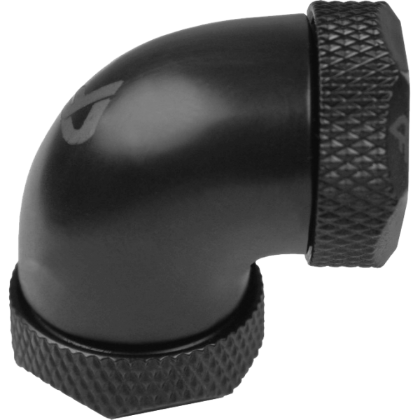 Nanoxia CoolForce Hardtube Adapter gewinkelt 90 Grad 12 mm auf 12 mm schwarz (CF-F190C)