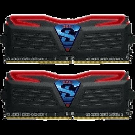 GeIL Super Luce 16 GB DDR4-2400 DIMM CL17 Dual Kit schwarz (GLR416GB2400C17DC)